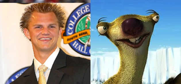 jimmy-clausen-sid-the-sloth-ice-age-look-a-likes