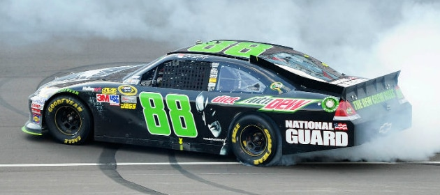 dale-earnhardt-jr-with-dark-knight-paint-scheme-finally-can-celebrate-another-win