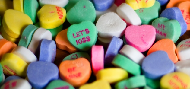 Conversation Heart Candy. Rejected Conversation Heart
