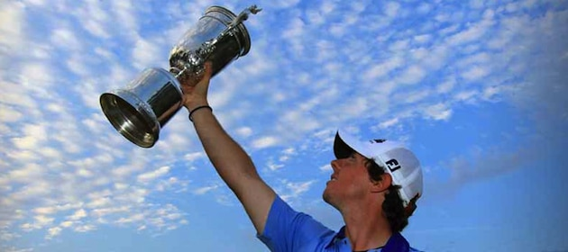 rory mcilroy us open winner. Rory McIlroy shows off his