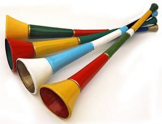 vuvuzelas the annoying horns at the world cup Vuvuzelas: The Official (and Annoying) Voice of the 2010 FIFA World Cup