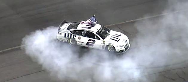 Brad Keselowski celebrates victory at Richmond