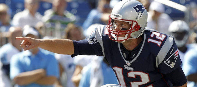 Tom Brady looks to lead the Patriots to victory