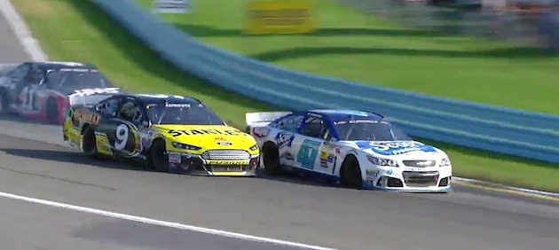 AJ Allmendinger held off Marcos Ambrose at Watkins Glen