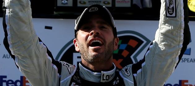jimmie-johnson-celebrates-2014-win-at-dover