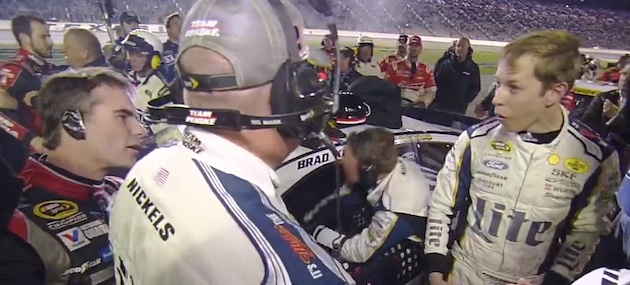 Jeff Gordon and Brad Keselowski got in a brawl at Texas