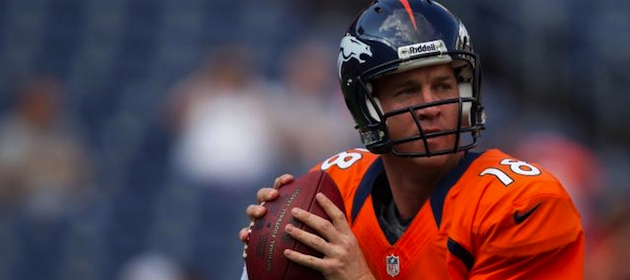 Peyton Manning leads the Denver offense